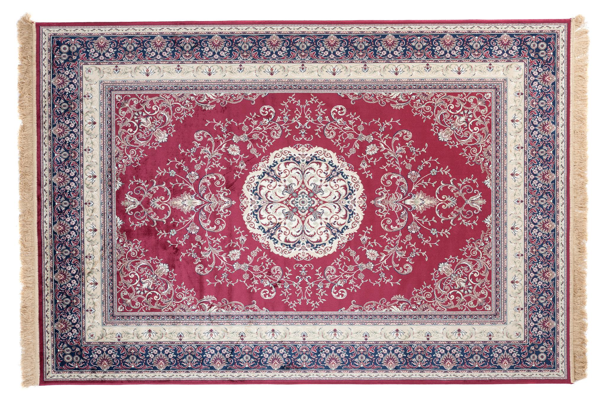 Dywan tradycyjny Isphahan 77919/43 czerwony