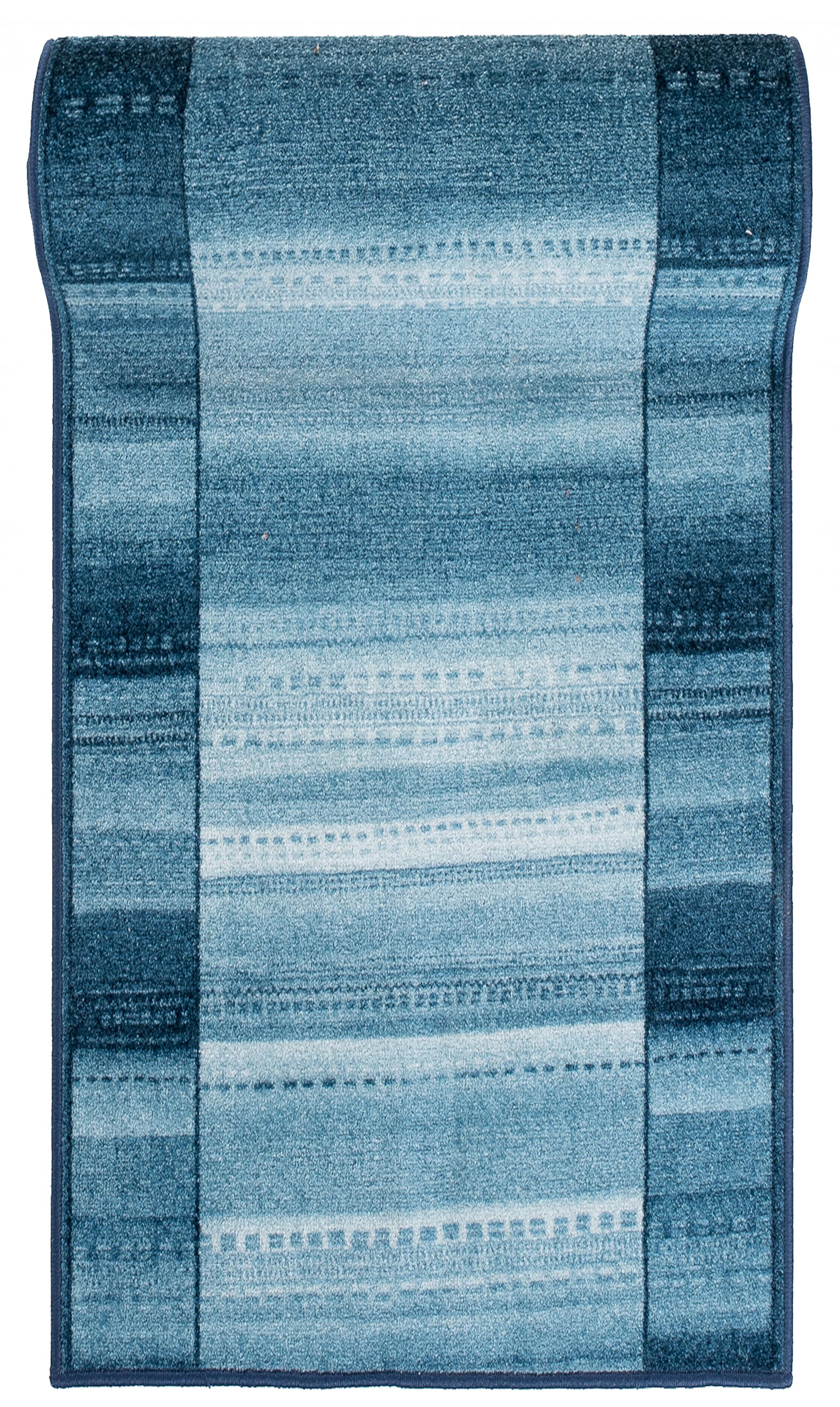 Chodnik nowoczesny 75 PERU (NEPTUNE) - niebieski