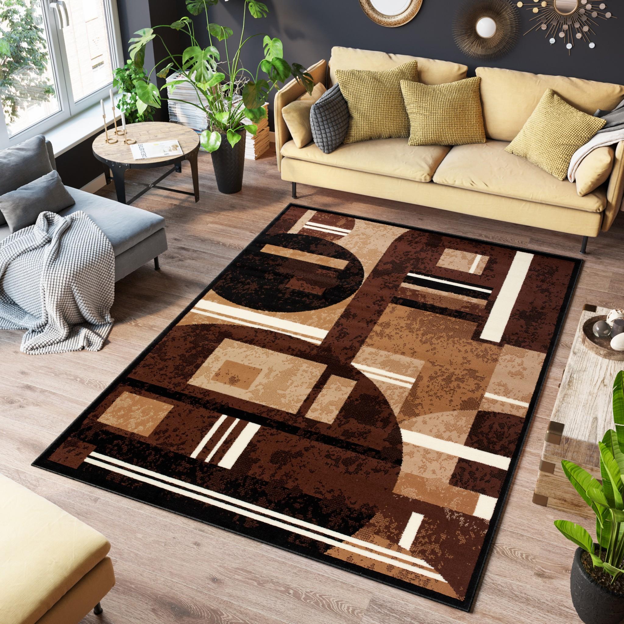 Dywan tradycyjny 3905 BLACK/ SCARLET brązowy