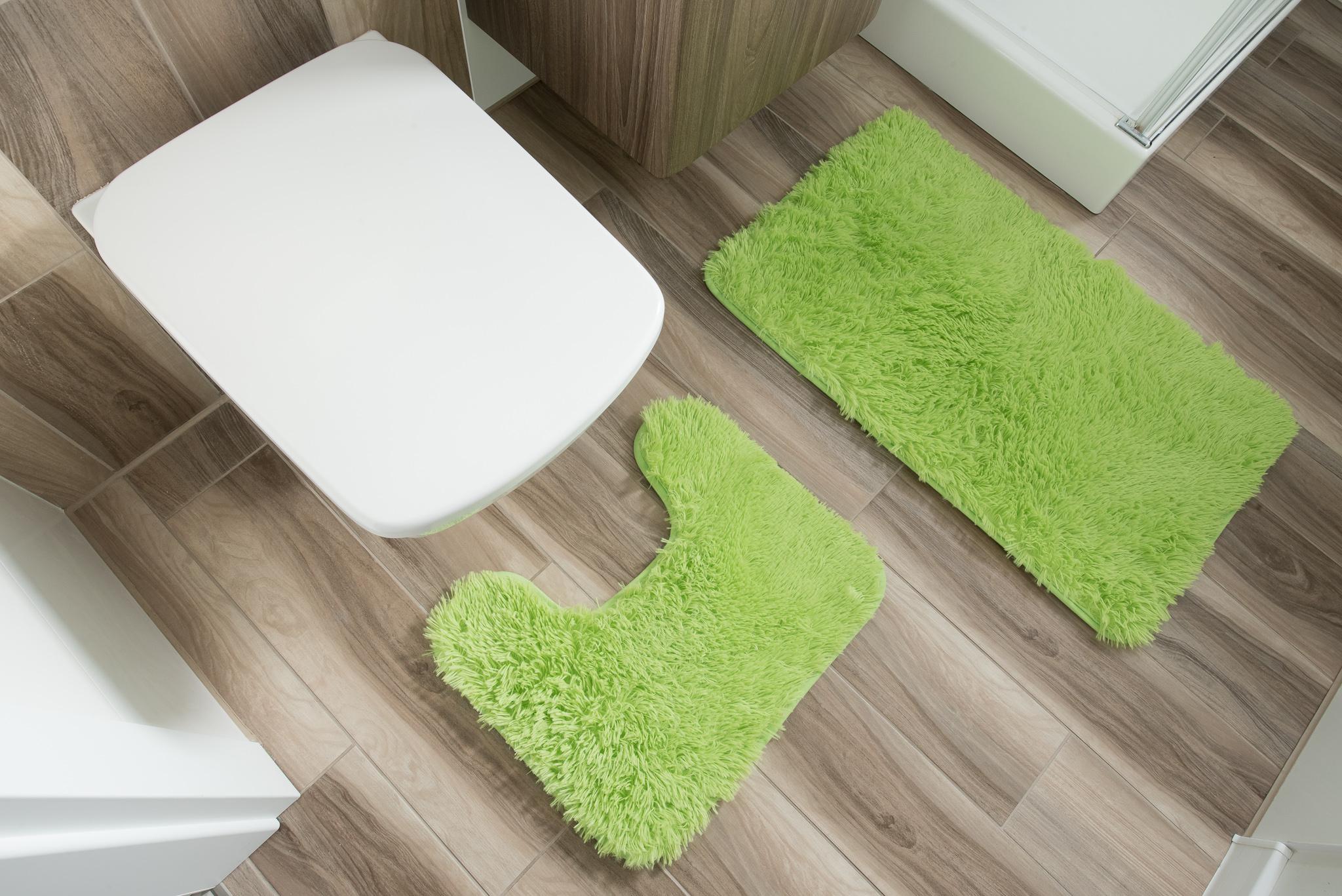 Dywan łazienkowy SILK ARTS-61 2PC zielony