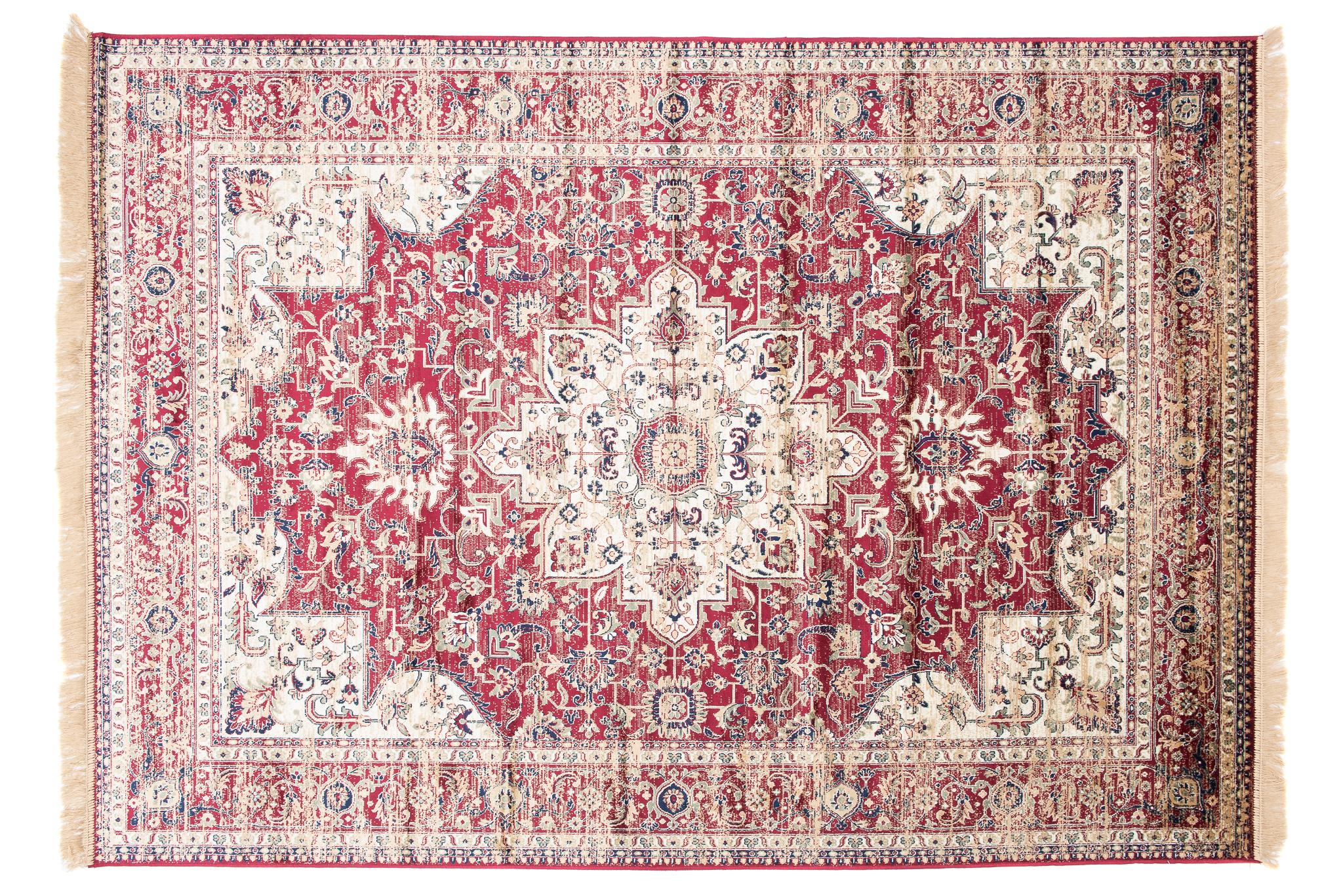 Dywan tradycyjny Isphahan 84486/43 WZORY KWIATOWE DO SALONU czerwony