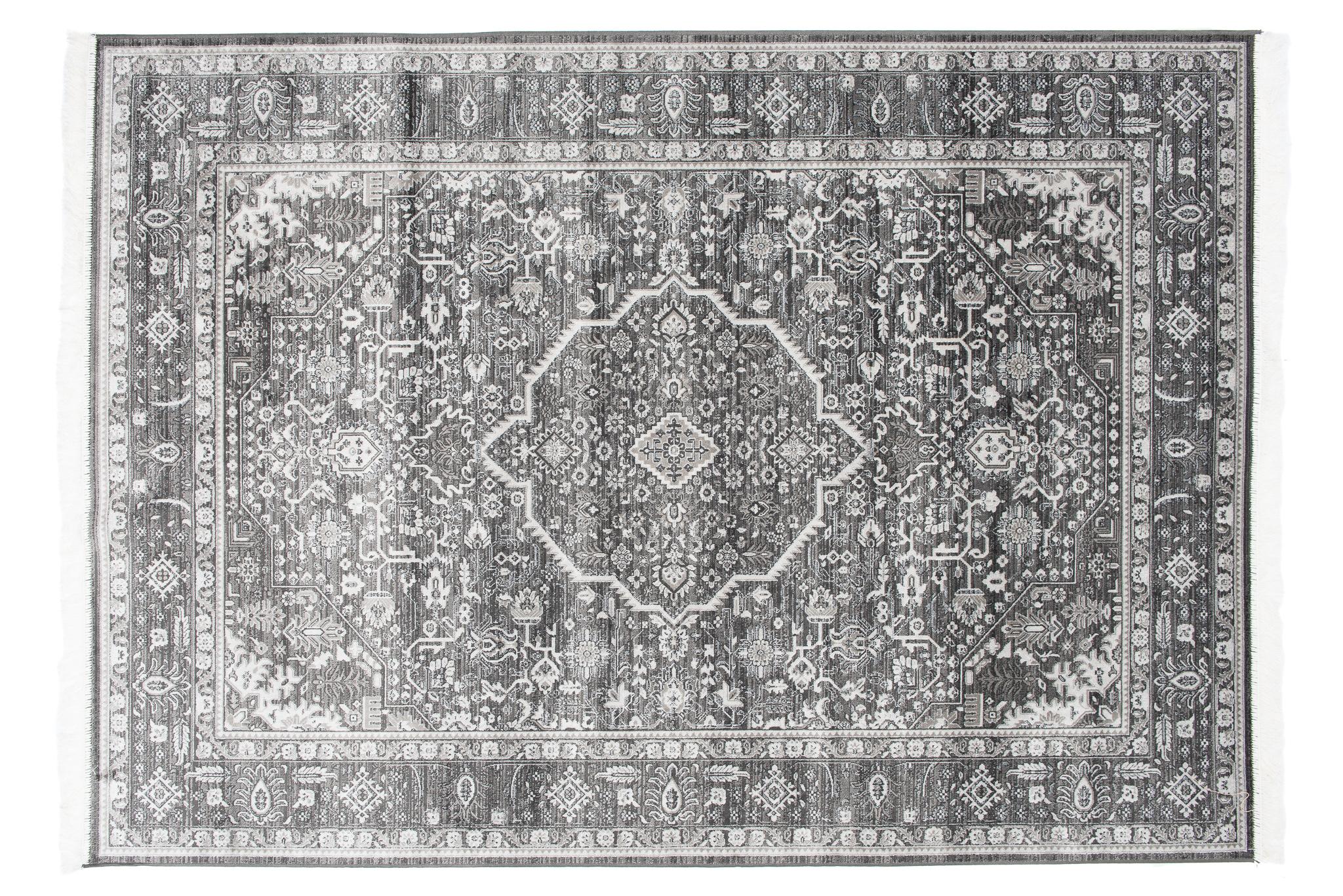 Dywan tradycyjny Isphahan 84332/68 WZORY ORIENTALNE DO SALONU szary