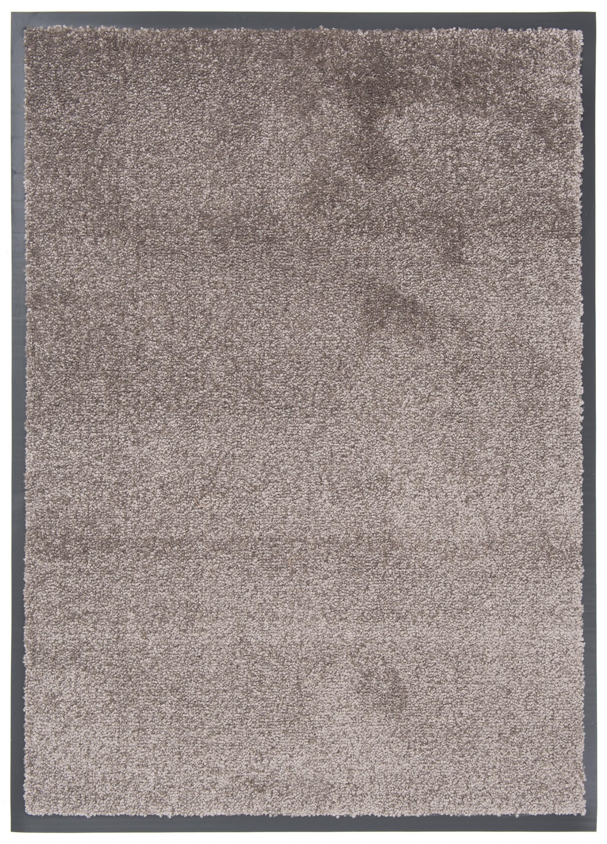 Wycieraczka materiałowa Memphis 73 CM - border 1,5 cm szary