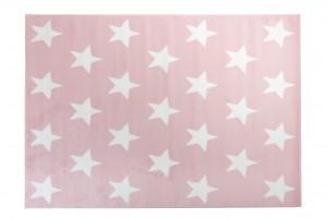 Dywan młodzieżowy PINKY Gwiazdki różowy