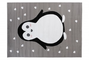 Dywan dziecięcy PINKY Pingwin szary