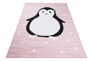 Dywan dziecięcy PINKY Pingwin różowy
