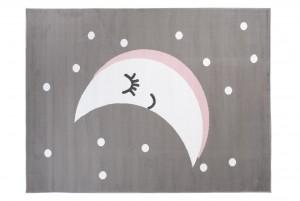 Dywan dziecięcy PINKY Księżyc szary