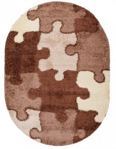 Dywan LUNA OV  3705A DARK BROWN  dywany promocja
