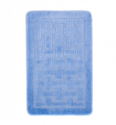 Dywaniki łazienkowe (KRATKA)  1039 BLUE (5004) MONO 1PC