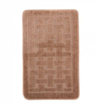 Dywaniki łazienkowe (KRATKA)  1039 CAMEL (3305) MONO 1PC