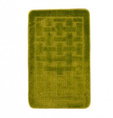 Dywaniki łazienkowe (KRATKA)  1039 GREEN (4605) MONO 1PC