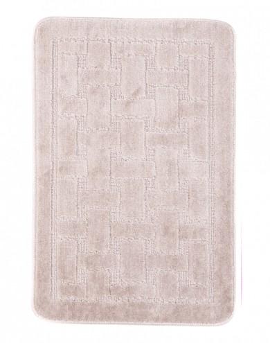 Dywaniki łazienkowe (KRATKA)  1039 PASTEL (3305) MONO 1PC