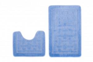 Dywan (KRATKA)  1039 BLUE (5004) MONO 2PC