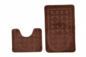 Dywan (KRATKA)  1039 BROWN (8121) MONO 2PC