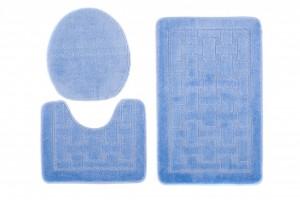 Dywan (KRATKA)  1039 BLUE (5004) MONO 3PC