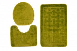 Dywan (KRATKA)  1039 GREEN (4605) MONO 3PC