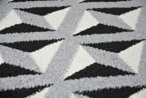 - Dywany Maroko Fryz Szary Czarny Biały