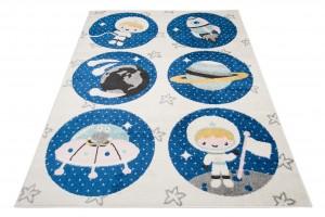 Dywan dziecięcy HAPPY Astronauta w kosmosie H330A biały