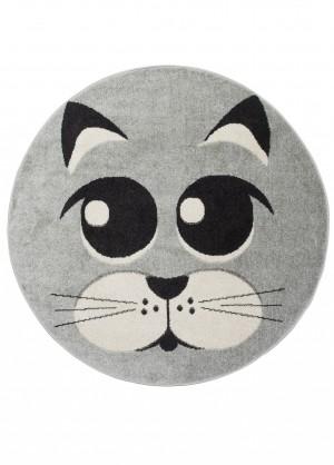 Dywan dziecięcy HAPPY kotek szary
