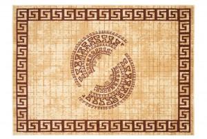 Dywan tradycyjny ATENA FE28B WZORY ORIENTALNY DO SALONU kremowy