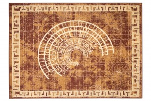 Dywan tradycyjny ATENA FE01A WZORY ORIENTALNE DO SALONU brązowy