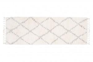 Dywan shaggy AZTEC FN39A DO SALONU DO PRZEDPOKOJU Z FRĘDZLAMI kremowy