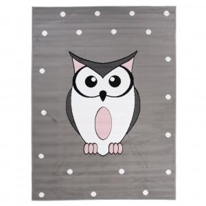 Dywan dziecięcy DF01A PINKY EWL szary