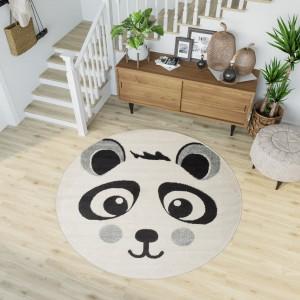 Dywan dziecięcy HAPPY panda biały