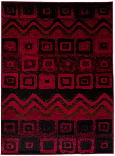 Dywan SCARLET  3907 RED/BLACK/GREIGE