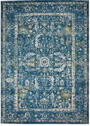 Dywan BLUE  FLORES N465B DARK