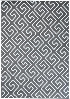 Dywan FIRE  10207 DARK GREY WHITE  dywany promocja