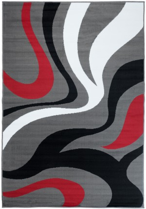 Dywan FIRE  10220 DARK GREY RED  dywany promocja
