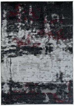 Dywan FIRE  10222 DARK GREY RED  dywany promocja