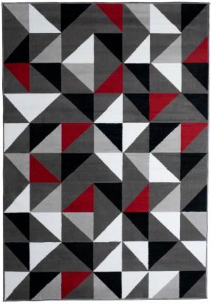 Dywan FIRE  10206 DARK GREY RED  dywany promocja