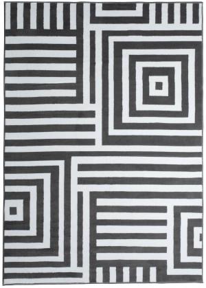 Dywan FIRE  10203 DARK GREY WHITE  dywany promocja