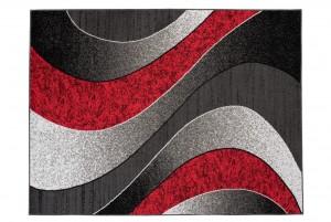 Dywan nowoczesny K857B Fala LUXURY czerwony