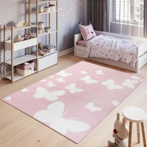 Dywan dziecięcy T629A PINKY EWL różowy
