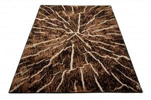 Dywan nowoczesny Q710A Pień drzewa LUXURY czarny