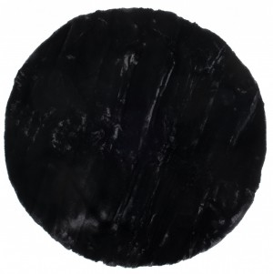RABBIT FUR 1,00*1,00 BLACK KOŁO