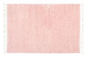 Dywan shaggy BOHO Z Frędzlami P113A Gładki Jednokolorowy różowy