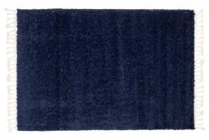 Dywan shaggy BOHO Z Frędzlami P113A Gładki Jednokolorowy niebieski