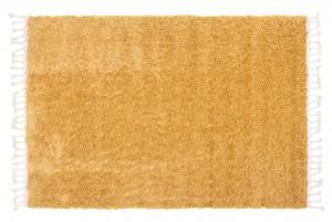 Dywan shaggy BOHO Z Frędzlami P113A Gładki Jednokolorowy żółty