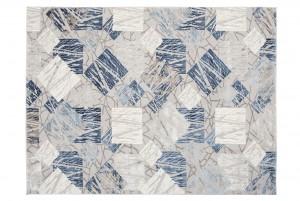 Dywan nowoczesny ASTHANE E464A Kolorowe Kwadraty Do Salonu niebieski