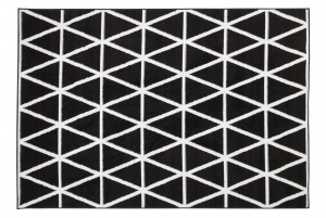 Dywan nowoczesny C436A BLACK/ BALI PP biały