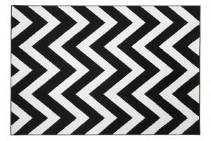 Dywan nowoczesny BALI PP C438A BLACK biały