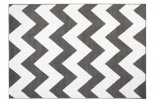 Dywan nowoczesny BALI PP C437A DARK GRAY biały