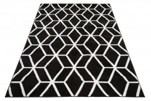 Dywan nowoczesny BALI PP C434A BLACK biały