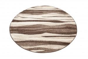 Dywan nowoczesny K186A SARI KOŁO 3UX jasno-brązowy