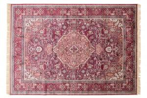 Dywan tradycyjny Isphahan 84332/43 WZORY ORIENTALNE DO SALONU czerwony