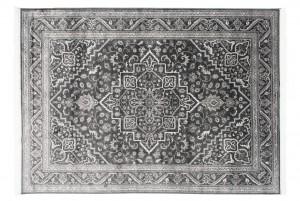 Dywan tradycyjny Isphahan 84412/68 WZORY KWIATOWE DO SALONU szary